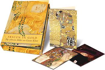 Grußkarten-Box Frauen in Gold